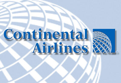 """Continental Airlines Globe Logo 3.25""""x2.25"""" Collectibles Fridge Magnet (LM14006)"""