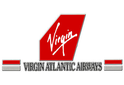 "Virgin Atlantic 90s Logo 3.25""x2.25"" Collectibles Fridge Magnet (LM14023)"