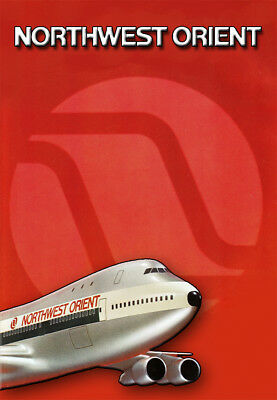 "Northwest Orient Airlines Logo Fridge Magnet 3.25""x2.25"" Collectibles (LM14042)"