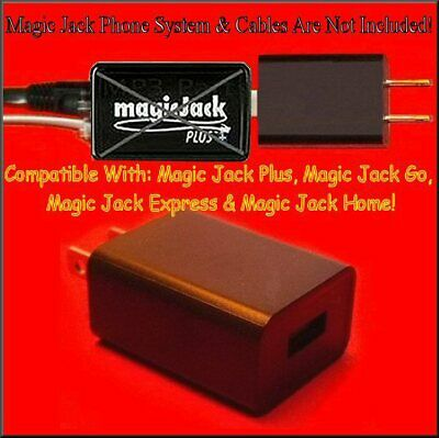 For Magic Jack Plus GO MagicJack Express Power Supply USB Adapter Wall Charger