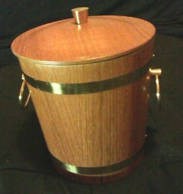 1960's Vintage Ice Bucket Wine Cooler.Made Japan.Mid Century Modern.