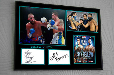 Tony Bellew Usyk Framed Canvas Print Signed