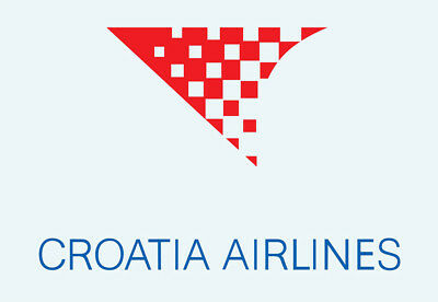 "Croatia Airlines Logo 3.25""x2.25"" Collectibles Fridge Magnet (LM14110)"