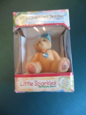 Cherished Teddies Little Sparkles March Birthstone Bear #239763,Orig Box,1996