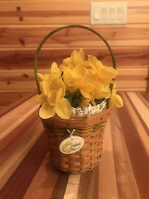 Longaberger Collectors Club 2008 May Series Daffodil Miniature Combo