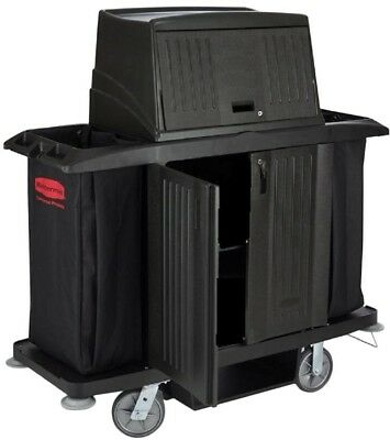 Rubbermaid Commercial Products Full-Size Housekeeping Cart with Doors