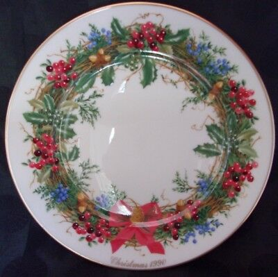 Lenox 1990 Christmas Wreath Collector Plate NEW JERSEY The Tenth Colony