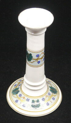 Old Hand Painted, Beaded Porcelain Candlestick, Nice Quality