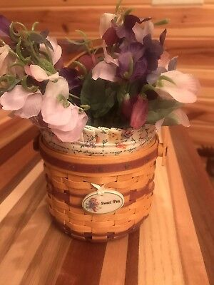 Longaberger Collectors Club 2008 May Series Sweet Pea Miniature Combo
