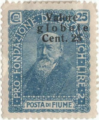 1920 Fiume... overprinted 25c blue