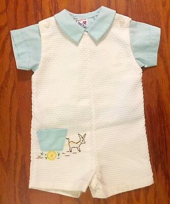 Vintage/Retro PETER PIPER 2pc. short-Alls/Outfit Embroidered 12M