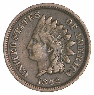 BETTER- 1862 Indian Head Cent Penny - Tough Coin *122