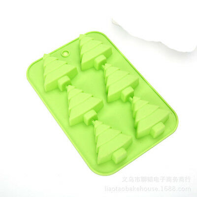 6 Christmas Tree Silicone Soap Mold  DIY Fimo Resin Clay Cake Mould Craft Art
