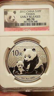 2012 10Y Silver Panda NGC MS 70 Early Releases