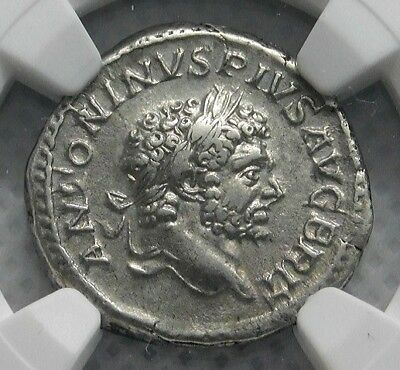 Caracalla 210-13 AD. Unique Denarius, Roman Empire, Ancient Silver Coin. NGC XF