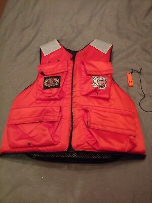 Stearns Utility Floatation Vest US Coast Guard AUX MEDIUM Approved Type III LOOK