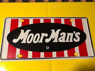 vintage MoorMan's Seed Feed Agriculture License Plate