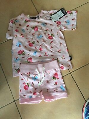 Rock Your Baby Rose Garden Pyjamas  Sz 2 Bnwt