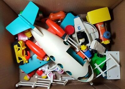 Vintage Lot Of Fisher Price Toys - Little People 70s & 80s