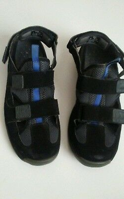 af46fbf3cb4 LL Bean 05380 Mens sz9 Blue Adjustable Strappy Ankle Strap Outdoor Sandals  Shoes