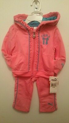 ( Girls  ) Pink 6 - 9 months Toddler Puma Tracksuit ( Brand New )