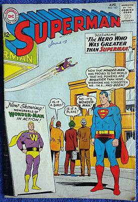 Superman #163 - The Hero Who Was Greater than Superman! Swan! Klein! Plastino!