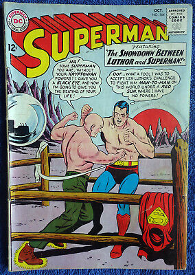 Superman #164 - The Showdown Between Luthor and Superman! Classic issue! Swan!