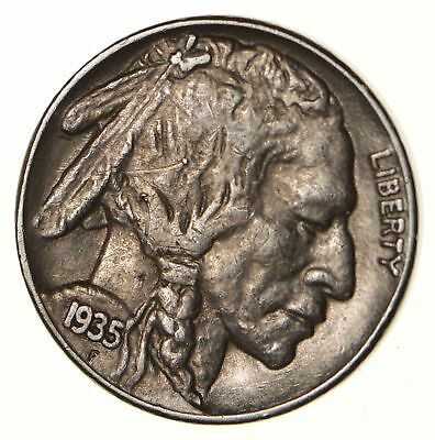 Mint Marked - FULL Horn - 1935-S Buffalo Nickel - SHARP *129