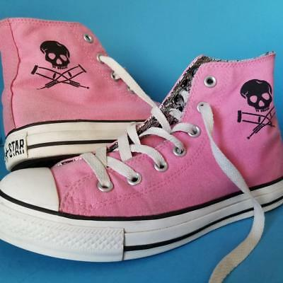 bb975682473e Converse JACKASS CHUCK TAYLORS Sneakers TV Show Pink SHOES Rare Sz 8 Wmn -  6 Men