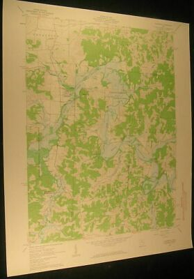 Plainfield Ohio Birds Run Indian Camp 1963 vintage USGS original Topo chart map