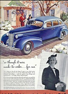 1937 Oldsmobile Ad ~ The Olds Eight For $785.00