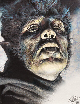 Henry Hull 'Werewolf of London' Colored Pencil & Marker Art by Frederick Cooper