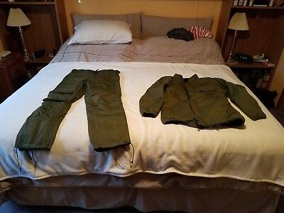 Chemical Suit US Military Size Medium Small SEALED 1980s