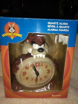 Looney Tunes Taz Clock - New in Package