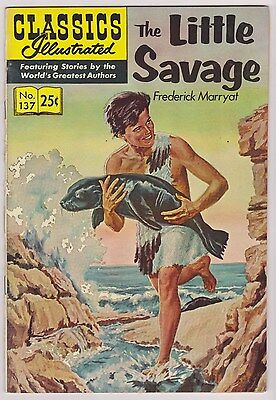 Classics Illustrated #137 - The Little Savage, Edition 7, HRN #169, VF - Nr/Mint