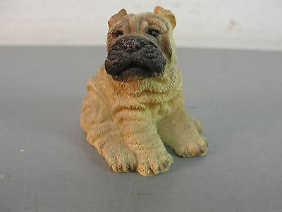 🐾 Shar-Pei Dog Canine Animal Figurine Pet Puppy Pup Sandicast Miniature Sitting