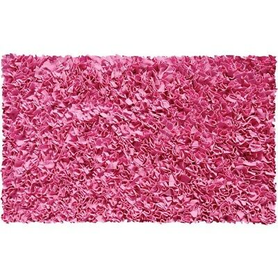 The Rug Market Shaggy Raggy Bubble Gum Area Rug, Size 2.8' x 4.8' Top Quality