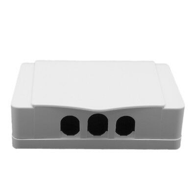 1x Socket Switch White Dual Waterproof Cover Case Box For Socket Panel Mounting
