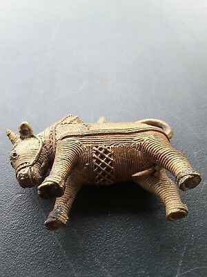 Vintage Brass Metal WIRE  BULL RARE QUALITY Collectible Animal Figurine Ornament