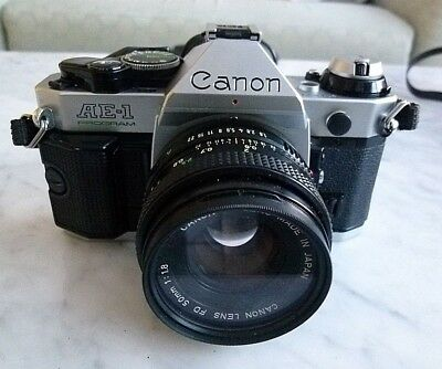 CANON AE-1 Program 35mm SLR Film Camera  with 50mm Canon FD Lens