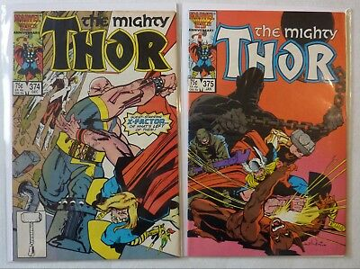 The Mighty Thor 374 & 375 Marvel Comics FN/VFN Condition Modern Age 1986