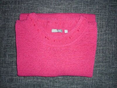 RABE-Damen Strickpullover Pullover Sweater 3 4 Arm Applikation Pink Gr.48  TOP c566a76954