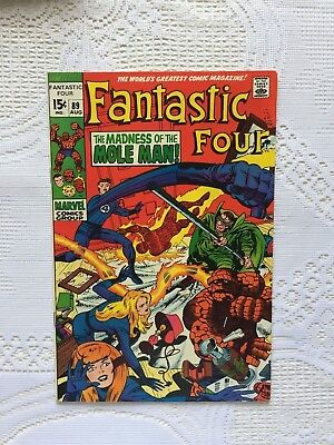 Marvel Comics Fantastic Four # 89 1969 FN+