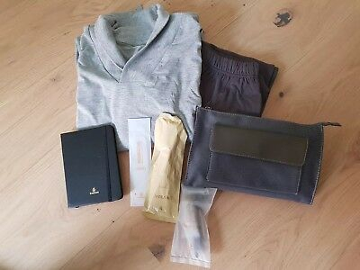 "EMIRATES *First Class* Pyjama Gr. XL - Amenity Kit ""Bulgari"" - Notizbuch"