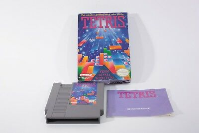 Nintendo NES Tetris Game In Box With Manual