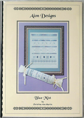 """Blue Mist"" Hardanger and speciality stitch sampler/needleroll – teaching book"