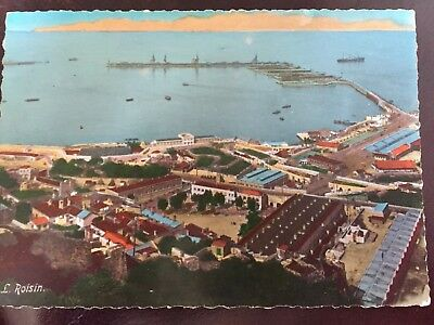 Vintage Postcard. Gibraltar. North Harbour. L. Roisin