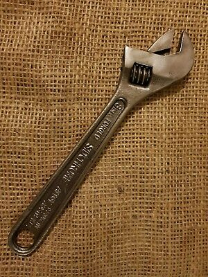 "Vintage Siddons Sidchrome 8"" Shifter Adjustable Wrench Excellent Condition"