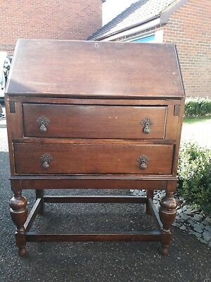 Wooden Writing Bureau Desk with Drawers