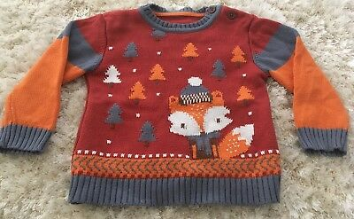 Gorgeous Baby Boys Winter Christmas Jumper 12-18 Months